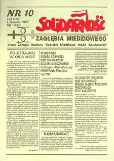 Solidarność Zagłębia Miedziowego : nr 10/90, czerwiec `93