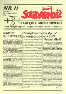 Solidarność Zagłębia Miedziowego : nr 11/91, czerwiec `93
