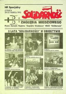 Solidarność Zagłębia Miedziowego : nr specjalny, marzec `95