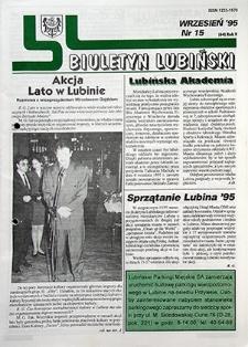 Biuletyn Lubiński : nr 15 (64), wrzesień `95