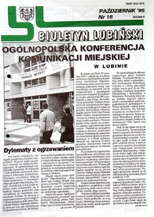 Biuletyn Lubiński : nr 16 (65), październik `95