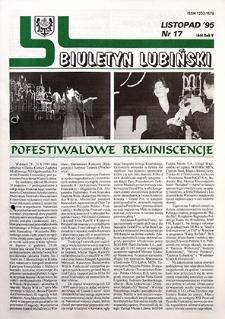 Biuletyn Lubiński : nr 17 (66), listopad `95