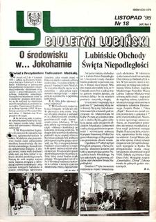 Biuletyn Lubiński : nr 18 (67), listopad `95
