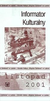 Informator Kulturalny : listopad 2001