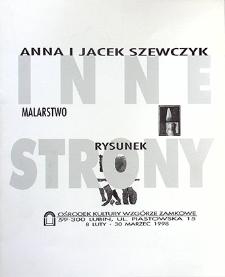 Anna i Jacek Szewczyk : Malarstwo rysunek : Inne strony