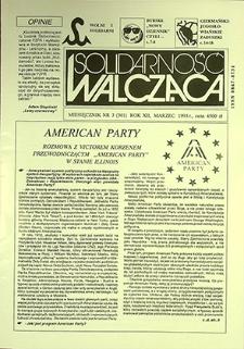 Solidarność Walcząca : nr 3 (301), marzec `93