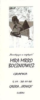 Hermetyczne w negatywie : Mira Mirro Boczniowicz grafika