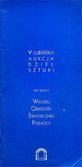V Lubińska Aukcja Dzieł Sztuki na rzecz Wielkiej Orkiestry Świątecznej Pomocy
