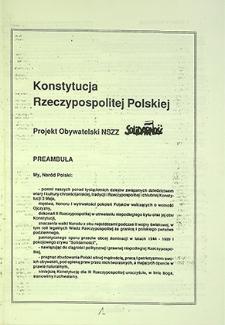 Konstytucja Rzeczypospolitej Polskiej. Dodatek do Co Tydzień Solidarność : nr 12 (63), wydanie specjalne, czerwiec `94