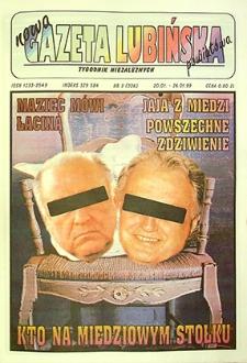 Nowa Gazeta Lubińska Powiatowa : nr 3(226), styczeń `99