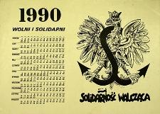 Kalendarz : Wolni i Solidarni 1990