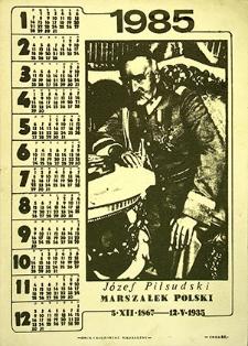 Kalendarz : Józef Piłsudski 1985